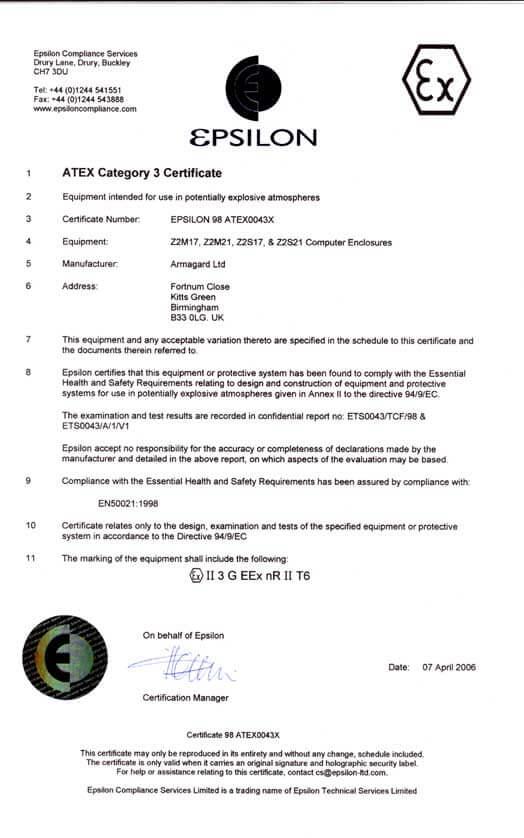 Certificato di zona 2