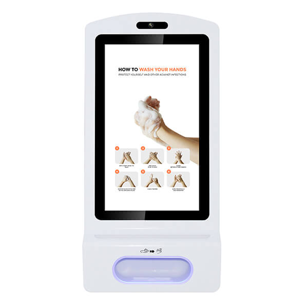 Schermo LCD Con Dispenser Igienizzante