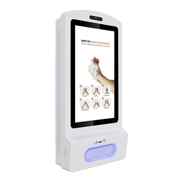 Schermo LCD Con Dispenser Igienizzante - Vista a destra