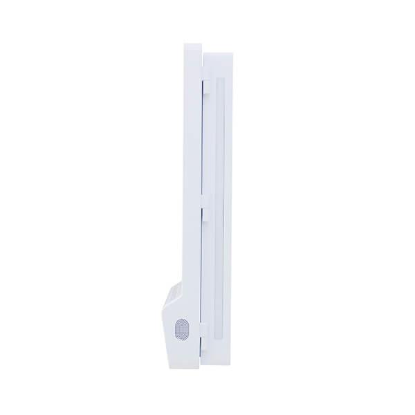 Schermo LCD Con Dispenser Igienizzante - Vista laterale