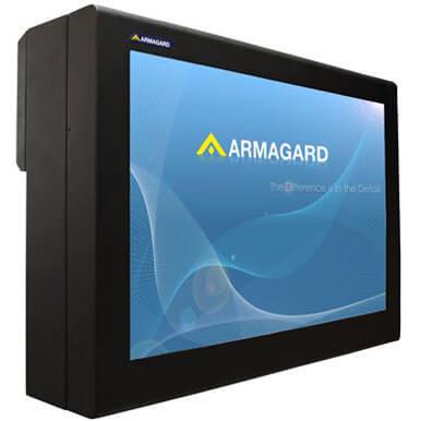 LCD enclosure | Quadro per proteggere uno schermo pubblicitario in ambienti ostili, interni ed esterni