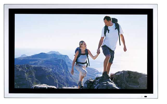Monitor pubblicitari, immagine frontale con schermo