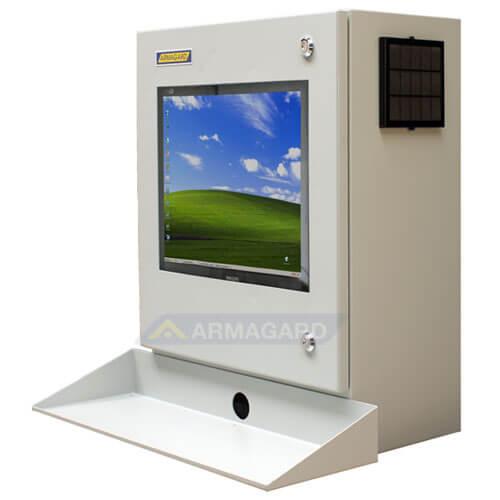 Armadio LCD porta computer - immagine laterale sinistra