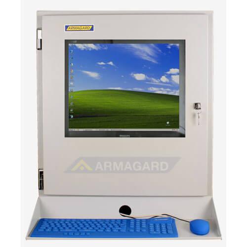 Monitor industriale LCD - immagine frontale con mensola