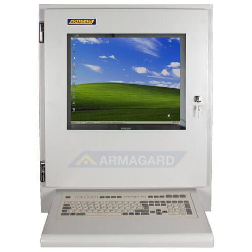 Monitor industriale LCD - immagine frontale con tastiera