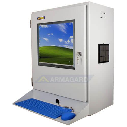Monitor industriale LCD - immagine laterale con mensola
