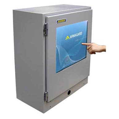 Armadio industriale per touch screen Armagard ideali in ambito industriale