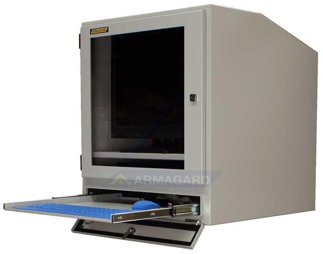 armadio compatto porta computer - con mensola aperta