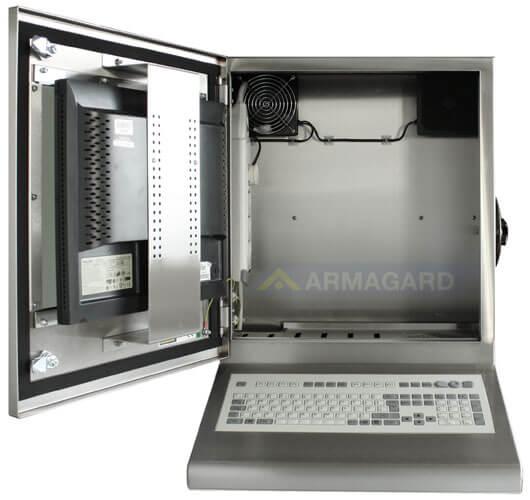 Armadio Stagno LCD con tastiera intgrata - immagine frontale con porta aperta