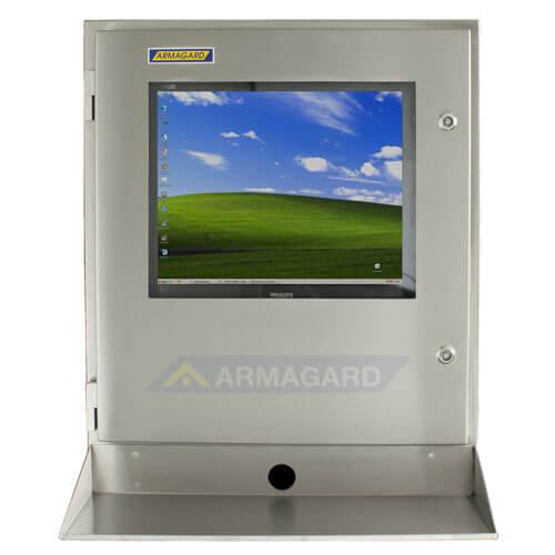 SENC-700, Armadio stagno porta computer IP65 con ripiano porta tastiera - immagine frontale