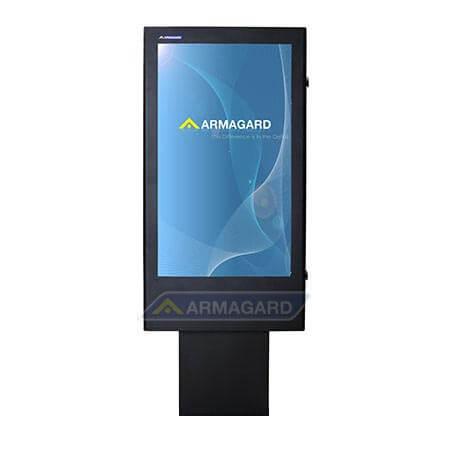 Totem multimediali, immagine frontale con monitor