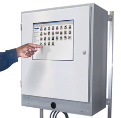 Armadio industriale per touch screen