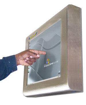 Touch screen monitor impermeabili